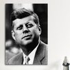 iCanvas Political John F Kennedy JFK Portrait Photographic Print on Canvas