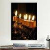iCanvas Jewish Menorah Photographic Print on Canvas