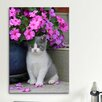iCanvas 'Kitten and Flower' by Carl Rosen Photographic Print on Canvas
