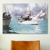 iCanvas 'Fishing Boats, Key West 1903' by Winslow Homer Painting Print on Canvas