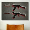 iCanvas 'AK47 Assault Rifle' by Michael Tompsett Painting Print on Canvas