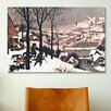 iCanvas 'Hunters in The Snow' by Pieter Bruegel Painting Print on Canvas