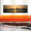 iCanvas Panoramic Silhouette of Skyscrapers at the Waterfront, Chicago, Cook County, Illinois Photographic Print on Canvas