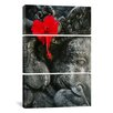 iCanvas Ganesh Holy Hindu God Statue 3 Piece Photographic Print on Wrapped Canvas Set