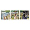 iCanvas Georges Seurat Sunday Afternoon on the Island of La Grande Jatte 3 Piece on Wrapped Canvas Set