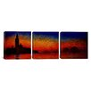 iCanvas Sunset in Venice by Claude Monet 3 Piece Painting Print on Wrapped Canvas Set