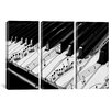 iCanvas Photography Piano 3 Piece on Wrapped Canvas Set