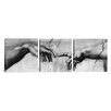 iCanvas The Creation of Adam V Di Lodovico Buonarroti Simoni by Michelangelo 3 Piece Painting Print on Wrapped Canvas Set