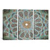 iCanvas Islamic Art Photography Tomb of Hafez Mosaic 3 Piece on Wrapped Canvas