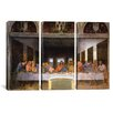 iCanvas Leonardo da Vinci The Last Supper 3 Piece on Wrapped Canvas Set