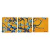 iCanvas Vincent van Gogh Almond Blossom 3 Piece on Wrapped Canvas Set in Orange