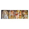 iCanvas Botticelli Sandro Les Saisons 3 Piece Painting Print on Wrapped Canvas Set