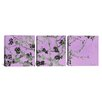 iCanvas Vincent van Gogh Almond Blossom 3 Piece on Wrapped Canvas Set in Purple