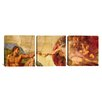 iCanvas Michelangelo Creation of Adam Di Lodovico Buonarroti Simoni 3 Piece on Wrapped Canvas Set
