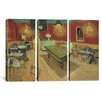 iCanvas Vincent van Gogh The Night Cafe 3 Piece on Wrapped Canvas Set
