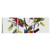 "iCanvas ""Painted Bunting"" by John James Audubon 3 Piece Painting Print on Wrapped Canvas Set"