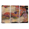iCanvas Water Serpents II by Gustav Klimt 3 Piece on Wrapped Canvas Set