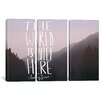 iCanvas The World is Quiet Here by Leah Flores 3 Piece Graphic Art on Wrapped Canvas Set