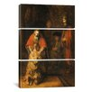 iCanvas Return of the Prodigal Son 1668-1669 Van Rijn by Rembrandt van Rijn 3 Piece Painting Print on Wrapped Canvas Set