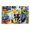 iCanvas The Last Judgment by Wassily Kandinsky 3 Piece Painting Print on Wrapped Canvas Set