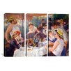 iCanvas Auguste Renoir The Luncheon of The Boating Party Pierre- 3 Piece on Wrapped Canvas Set