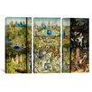 iCanvas Hieronymus Bosch The Garden of Earthly Delight 3 Piece on Wrapped Canvas Set