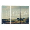 iCanvas Leah Flores Let's Run Away 3 Piece on Wrapped Canvas Set