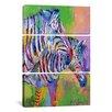 iCanvas Richard Wallich Zebra 3 Piece Painting Print on Wrapped Canvas Set