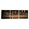 iCanvas The Last Supper IV by Leonardo da Vinci 3 Piece Painting Print on Wrapped Canvas Set