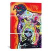 iCanvas Dean Russo Thoughtful Pit Bull 3 Piece Graphic Art on Wrapped Canvas Set