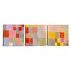 iCanvas Flora on The Sand by Paul Klee 3 Piece Painting Print on Wrapped Canvas Set