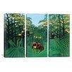 iCanvas Henri Rousseau The Tropics 3 Piece on Wrapped Canvas Set