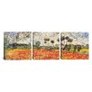 iCanvas Vincent van Gogh Field of Poppies 3 Piece on Wrapped Canvas Set