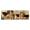 iCanvas Raphael The Two Angels 3 Piece Painting Print on Wrapped Canvas Set