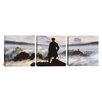 iCanvas The Wanderer Above The Sea of Fog by Caspar David Friedrich 3 Piece Painting Print on Wrapped Canvas Set