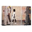 iCanvas The Problem We All Live With (Ruby Bridges) by Norman Rockwell 3 Piece Painting Print on Wrapped Canvas Set