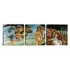 iCanvas Botticelli Sandro The Birth of Venus 3 Piece on Wrapped Canvas Set