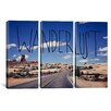 iCanvas Leah Flores Wanderlust Road 3 Piece on Wrapped Canvas Set