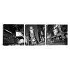 iCanvas Panoramic Photography New York Skyline Cityscape Times Square at Night 3 Piece on Wrapped Canvas Set in Black and White