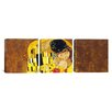 iCanvas Gustav Klimt The Kiss 3 Piece on Wrapped Canvas Set