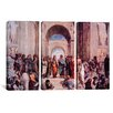 iCanvas Raphael School of Athens 3 Piece on Wrapped Canvas Set