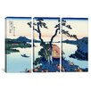 iCanvas Katsushika Hokusai Lake Suwa in The Shinano Province 3 Piece on Wrapped Canvas Set