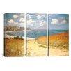 iCanvas Claude Monet Path Through The Corn At Pourville 3 Piece on Wrapped Canvas Set