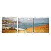 iCanvas Path Through The Corn At Pourville by Claude Monet 3 Piece Painting Print on Wrapped Canvas Set