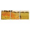iCanvas Claude Monet Field of Poppies 3 Piece on Wrapped Canvas Set