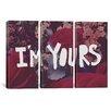 iCanvas Leah Flores I'm Yours 3 Piece on Wrapped Canvas Set