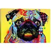 "iCanvas ""Pug"" by Dean Russo Graphic Art on Wrapped Canvas"
