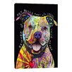"iCanvas ""Beware of Pit Bulls"" by Dean Russo Graphic Art on Wrapped Canvas"