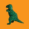iCanvas 8-Bit Toy Dinosaur by Scott Balmer Painting Print on Canvas