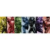 iCanvas Comics (Avengers) - Rainbow Avengers Panoramicby Marvel Comics Graphic Art on Canvas
